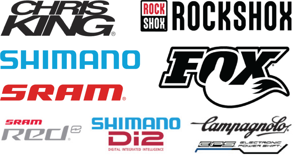 Chris King, Rock Shox, Fox, Shimano, SRAM quality bicycle components